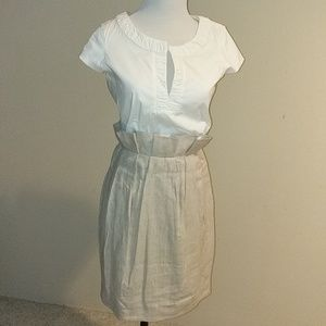 BCBG Paperbag Waist Dress New With Tag - Size 4
